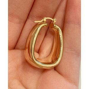 Argola Retangular Vintage Bold Ouro (par)