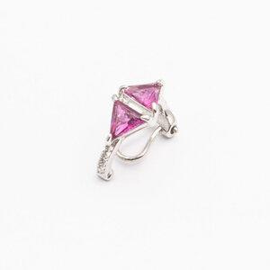 Piercing Triangular Rubi com Cravejado PRATA925