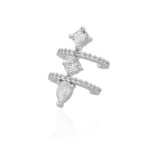 Piercing Formas Duplo Cristal Prata925