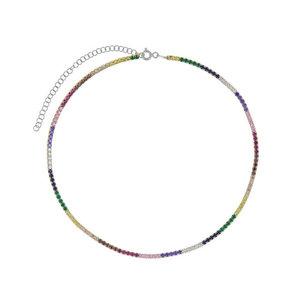 Choker Riviera Rainbow Prata925