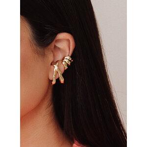Brinco ear hook Organic Ouro18k (unitario)