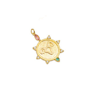 Pingente Medalha Aries Ouro18k