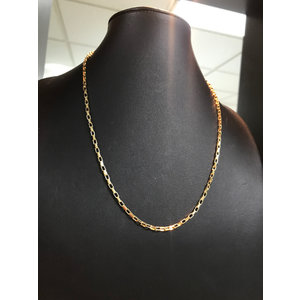 Colar Corrente Elo Retangular Delicado Ouro 70 cm