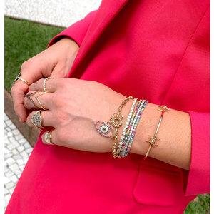 Bracelete Aro Aberto com 2 Farpado Ouro
