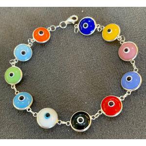 Pulseira Olho grego Colorida Prata925
