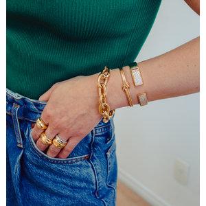 Bracelete Nó Duplo Ouro18k