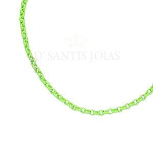Colar Elo Portugues Colors Verde Lima Ouro