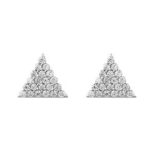 Brinco Triangulo Cravejado Prata925