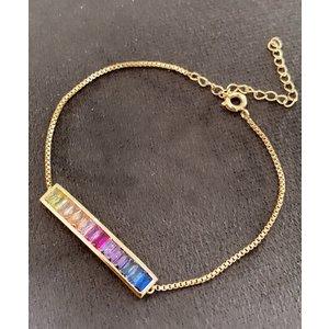 Pulseira Rainbow Cubica Ouro