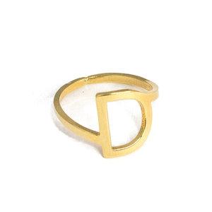 Anel Letra Ouro (escolha sua letra)