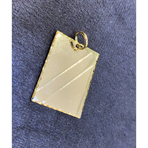 Pingente Plaquete Ouro lisa