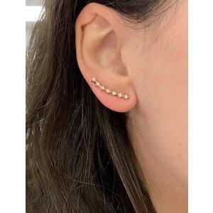 Brinco Ear Cuff Pontos Delicados Ouro