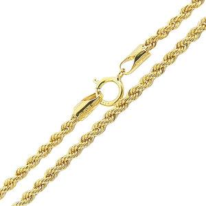 Corrente modelo malha corda italiana trançada ouro (ESCOLHA O TAMANHO )