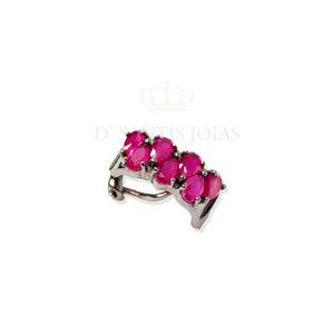 Piercing Luxo Rubi Negro Prata925