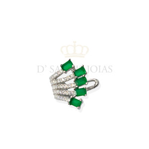 piercing raizes esmeralda prata925