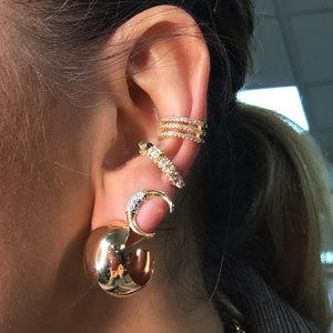 Piercing 3 fileiras Cravejadas Ouro
