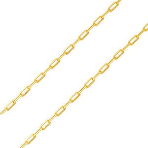 Corrente Elo 7mm Classica 45 cm Ouro