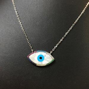 colar olho grego colors prata925