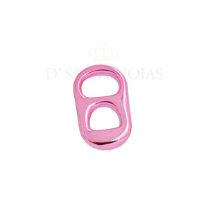 Pingente sodacap metalizado pink