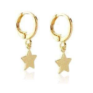 Brinco Argola Estrela Texas Ouro