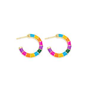 Argola Caracol Rainbow Ouro
