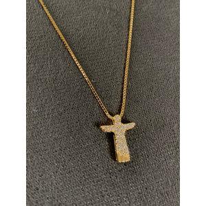 Colar CRISTO Redentor Cravejado Ouro