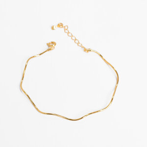 Bracelete Ondas Delicado Ouro