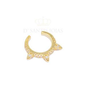 Piercing Spike Cravejado Ouro18k