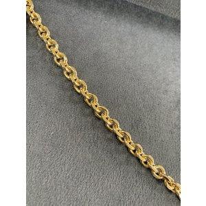 Choker Elos Redondos Ouro 40cm