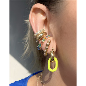 Ear Hook Poesia Rainbow Ouro
