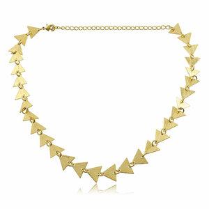 Choker Escamas ( triangulos ) Ouro