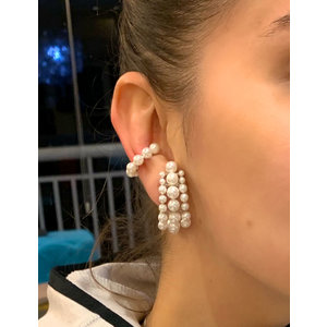Brinco Ear Hook MAXI Perolas Prata925