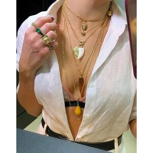 Pingente Gota Jade Natural Ouro
