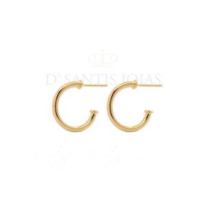 Argola Delicada 1.5cm Aberta Ouro