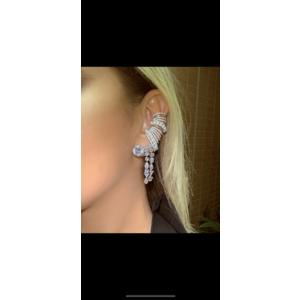Piercing Linhas Cravejadas com Perolas Prata925