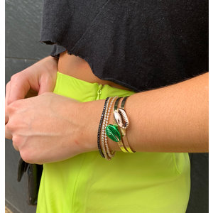 Bracelete Buzios Bronze Ouro18k