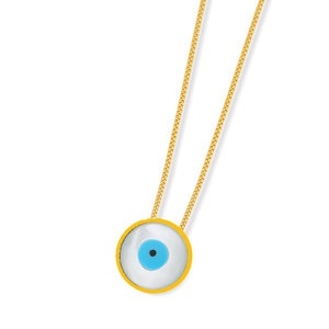 Colar Olho Grego Basico Ouro