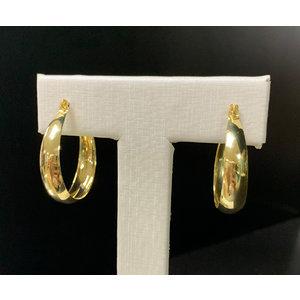 Argola Sanfona 3cm Ouro18k