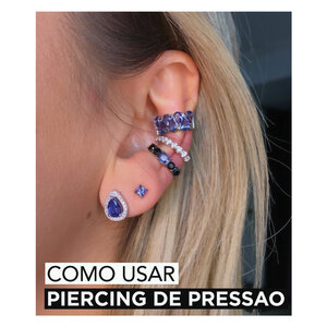 LOOKS COM PIERCINGS DE PRESSAO !