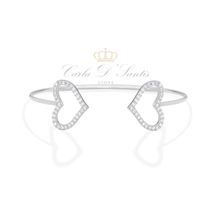 Bracelete Corações Prata 925
