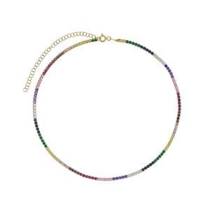Choker Riviera Rainbow prata925 mais Ouro 18k