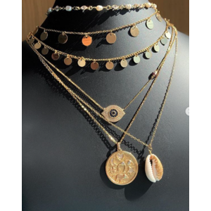 Colar Medalhas Gypsy Shine Ouro (42,0 cm)