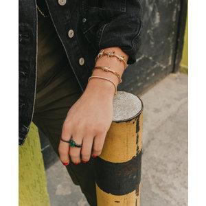 Bracelete 3 Arames Farpados Ouro