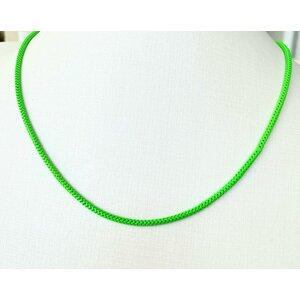 Colar Malha Rabo de rato Colors Verde Neon Ouro