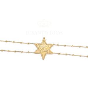 Choker Estrela TEXAS Grande Ouro