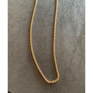Corrente Modelo Cartier Arredondado 70 cm Ouro