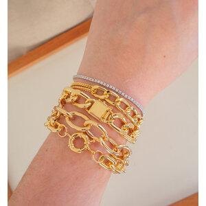 Pulseira Grumet com fecho cadeado Ouro