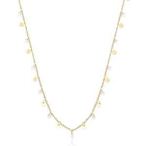 Colar Longo Medalhas Boho com cristais Ouro 18k