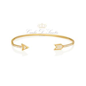 Bracelete Flecha Ouro Prata925