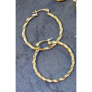 Argola Trançada ( twist ) 3.7cm Ouro